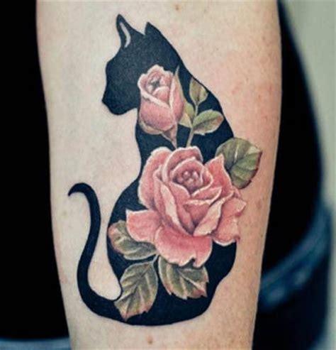 tattoo cat and rose rose cat tattoo