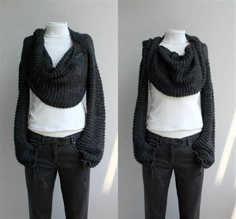 free knitting patterns shawl with sleeves free shipping long sleeve charcoal bolero scarf shawl
