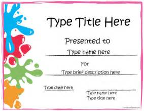 colorful certificate template free award template helloalive