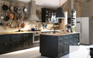 Wooden Cabinets Ikea Create Classic Drama With Black Brown And Oak Ikea