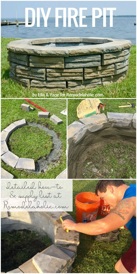 how to build a pit with retaining wall blocks remodelaholic diy retaining wall block pit