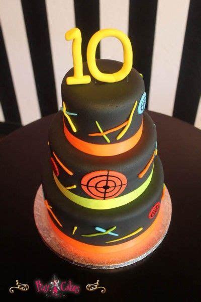 birthday cake  tier boy laser tag  cool cakes pinterest  birthday cakes  birthdays