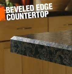 eased square granite edges on kitchen countertop