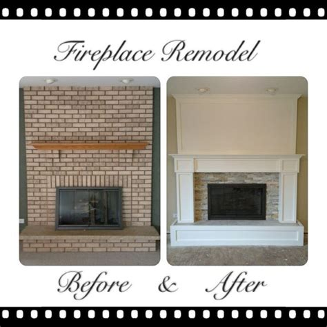 How To Cover Brick Fireplace by Remodeled Brick Fireplaces Brick Fireplace Remodel For