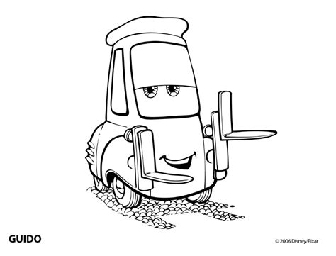 cars guido coloring pages cars βαλτε χρωμα