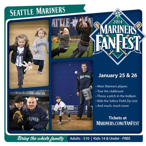 seattle mariners fan fest 2014 fan fest tickets on sale 171 from the corner of edgar