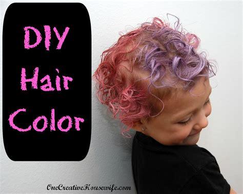 one creative diy hair color
