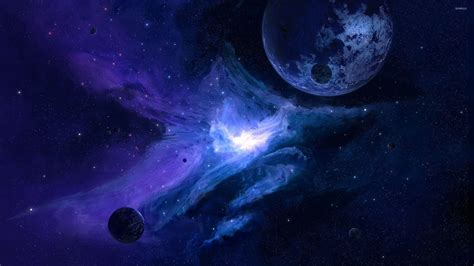 wallpaper blue galaxy planet in the blue galaxy wallpaper space wallpapers