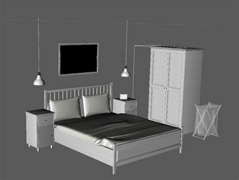 ikea model bedrooms free hemnes bedroom collection c4d and obj cinema4d sources