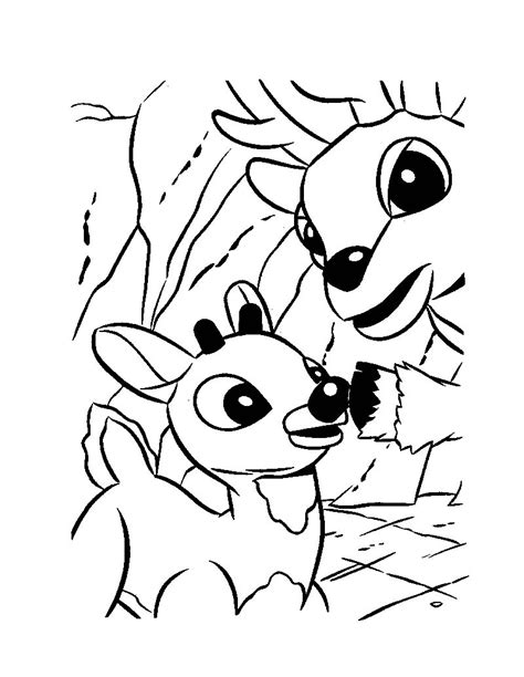 cute rudolph coloring pages rudolph and his dad donner coloring pages hellokids com