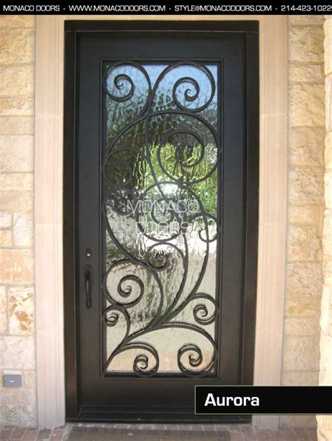 Ornamental Iron Doors Monaco Doors Glass And Iron Doors