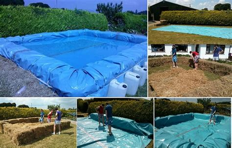 how to build a pool house build your own swimming pool from bales of hay home