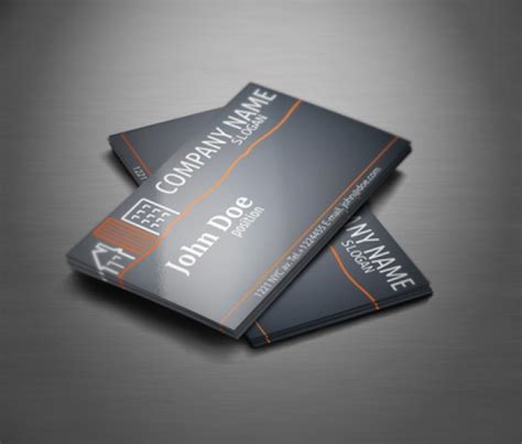 professional card templates real estate professional business card template vector