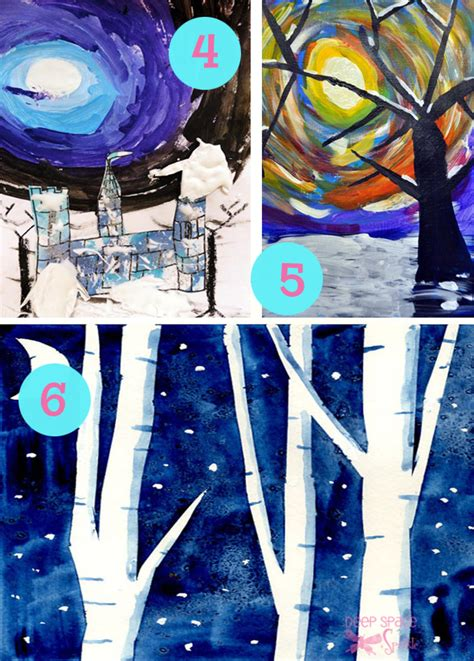 Winter Landscape Ks2 Collection Of Winter Projects Space Sparkle