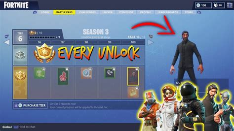 fortnite unlockables new every unlockable item in fortnite season 3