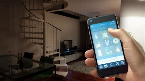 smartphone home automation smartphone home automation red light video stock footage