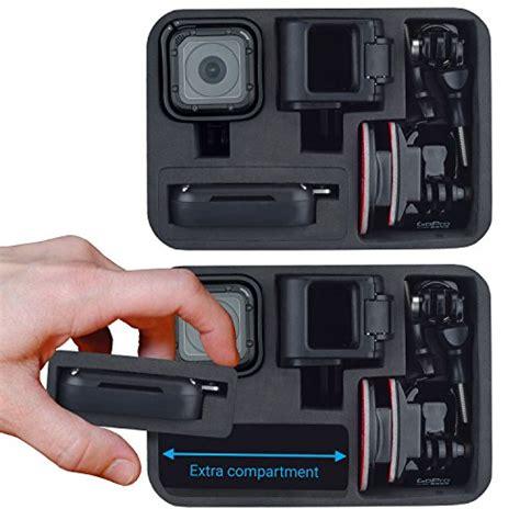 Hero4 Monkey y estuche de accesorios para gopro hero4 session cameras ideal para viajar o almacenar