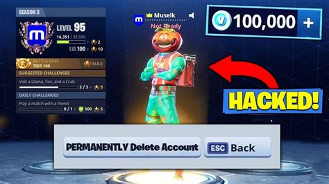 hacked fortnite account viral pie