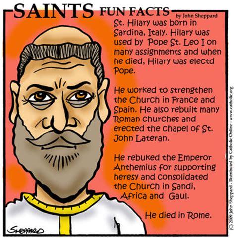st facts saints facts st hilary pope saints