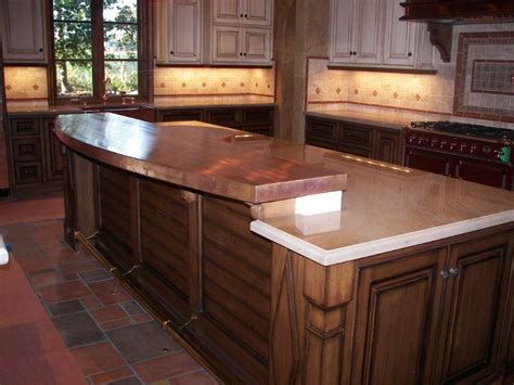 Brass Countertops by 48 Oz Copper Welded Countertop With Radius Edge Concord