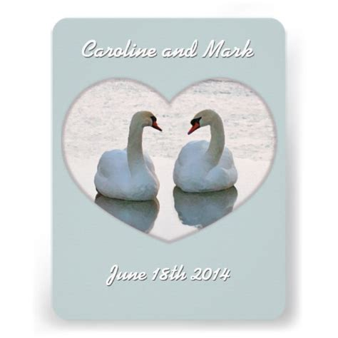 Swan Wedding Invitation Cards by Swan Wedding Invitations 443 Swan Wedding Announcements