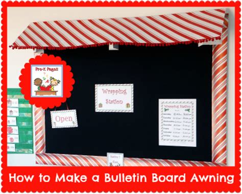 How To Make Awning by How To Make A Bulletin Board Awning Diy