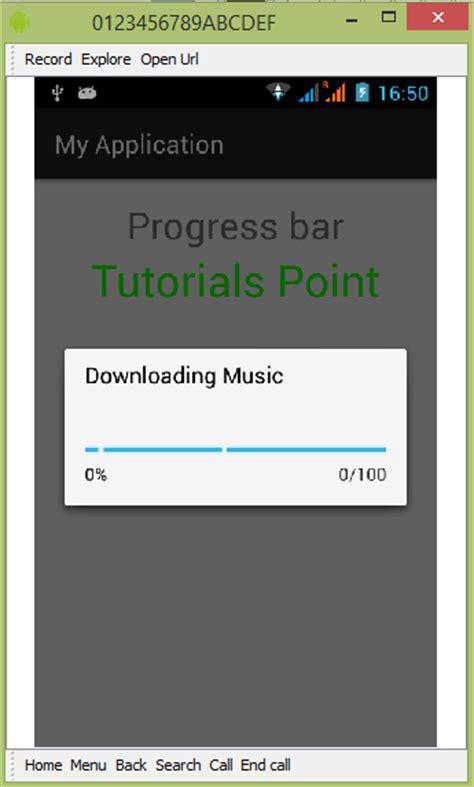 android progress dialog android progress bar using progressdialog