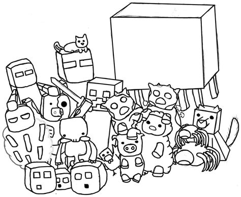 minecraft coloring pages monsters minecraft mobs free colouring pages