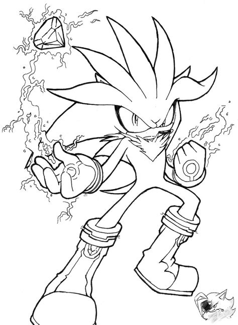 Silver The Hedgehog Line Art By Sonicgirlgamer71551 On Silver The Hedgehog Coloring Pages