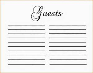 Wedding Guestbook Template by Guest Book Template Authorization Letter Pdf