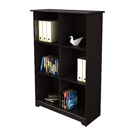 bush cabot 6 cube bookcase in espresso oak wc31865 03