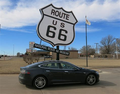 Tesla Okc Image Tesla Model S Electric Car Road Trip Route 66