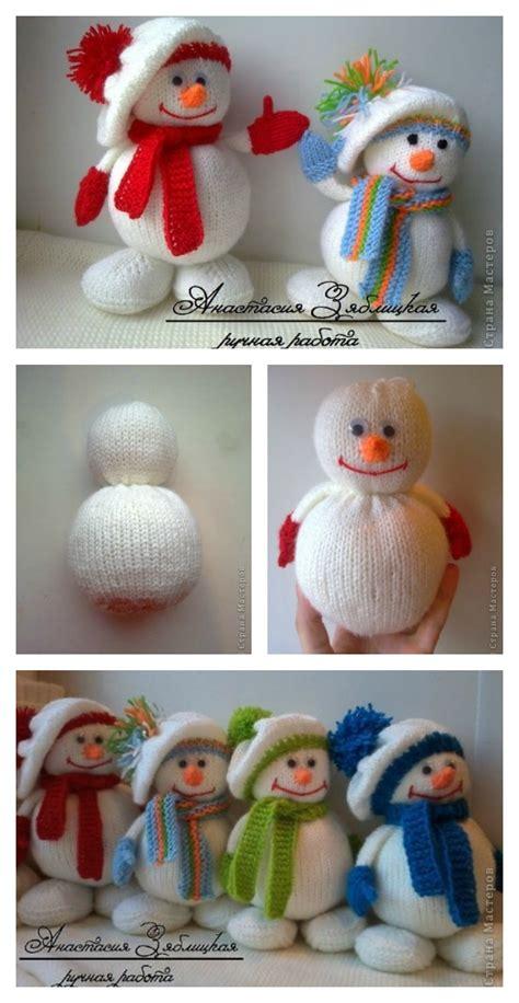 how to knit a snowman pattern knitting snowman free pattern