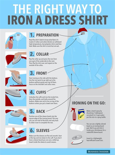 how to iron a dress shirt business insider