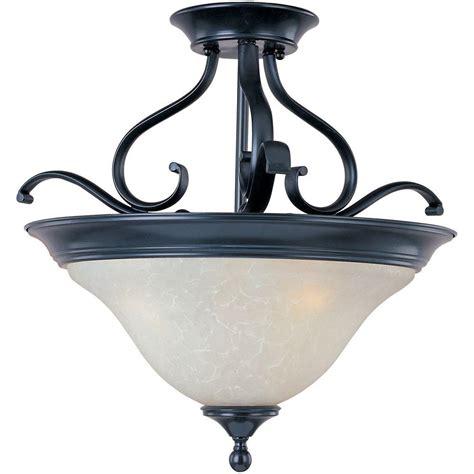 Black Semi Flush Mount Ceiling Light Filament Design Lenor 2 Light Black Fluorescent Ceiling Semi Flush Mount Light V7232 5 The