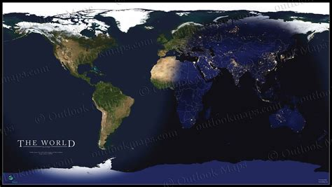 world daylight map world satellite map showing daylight and darkness