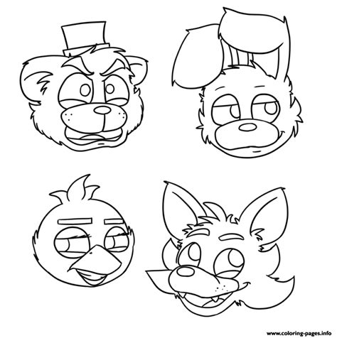 Fnaf 1 Coloring Pages by Mangle Free Coloring Pages