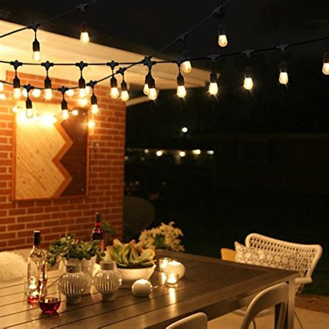Cymas Outdoor Edison String Lights 33ft Ul Listed Decorative String Lights For Patio