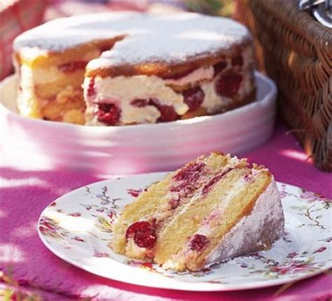 raspberry recipes raspberry layer cake recipe bbc good food