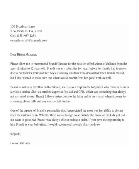 reference letter for babysitter standart snapshot best ideas of