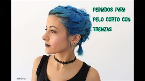 trenzas en pelo corto peinado trenzas en cabello corto youtube
