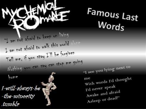 end game lyrics four words famous last words lyrics on tumblr