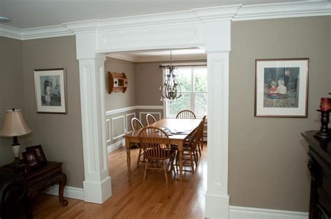 dining room trim ideas customized moulding in new home traditional dining room