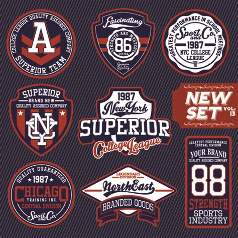 design t shirt labels vintage t shirt labels creative vector material 03