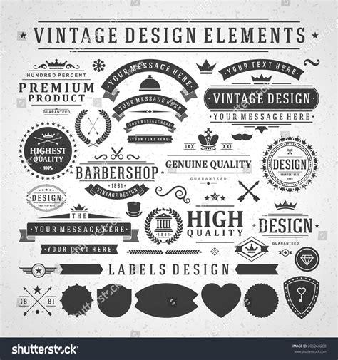vintage classic design label elements vintage vector design elements retro style golden