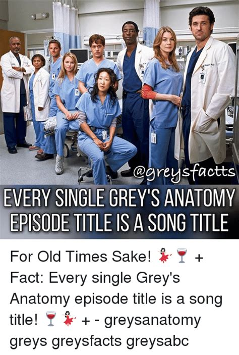 song in grey s anatomy agreysfactts every single grey s anatomy episode title is