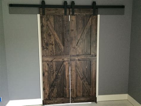 rustic sliding barn doors custom farmhouse rustic sliding barn door made to order
