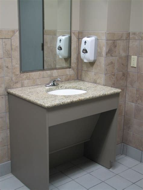 ada compliant bathroom sinks and vanities ada vanities and the accessible route