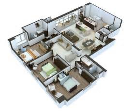 Home Design 3d Jeux 25 More 3 Bedroom 3d Floor Plans Architecture Amp Design