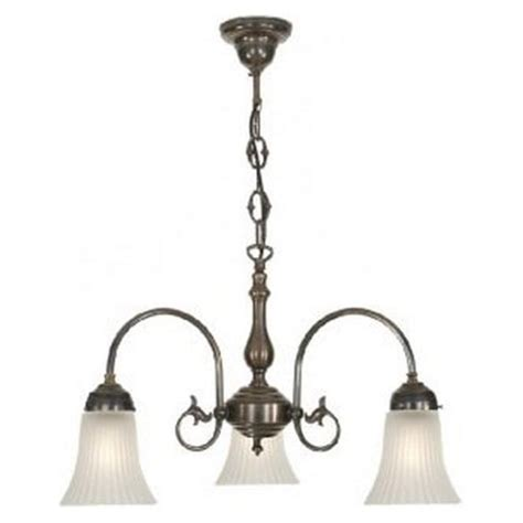 Period Lighting by Period Lighting Collection Freda 3 Light Aged Brass